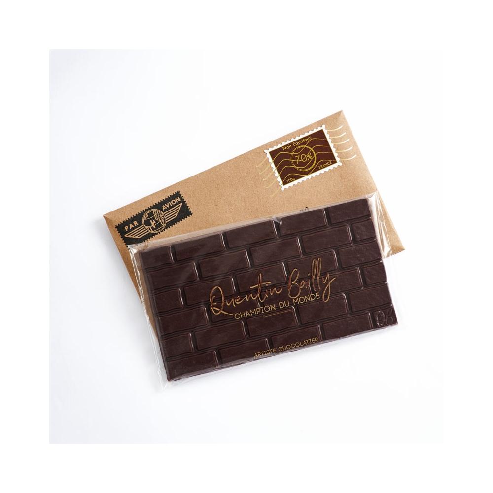Tablette chocolat noir pur Equateur 70% de cacao