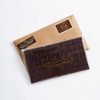 Tablette chocolat noir 62% de cacao, crêpes dentelles et riz soufflé Japonais