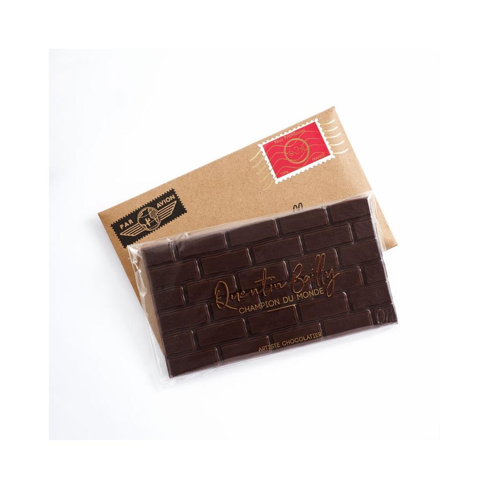 Tablette chocolat noir et framboise 62% de cacao