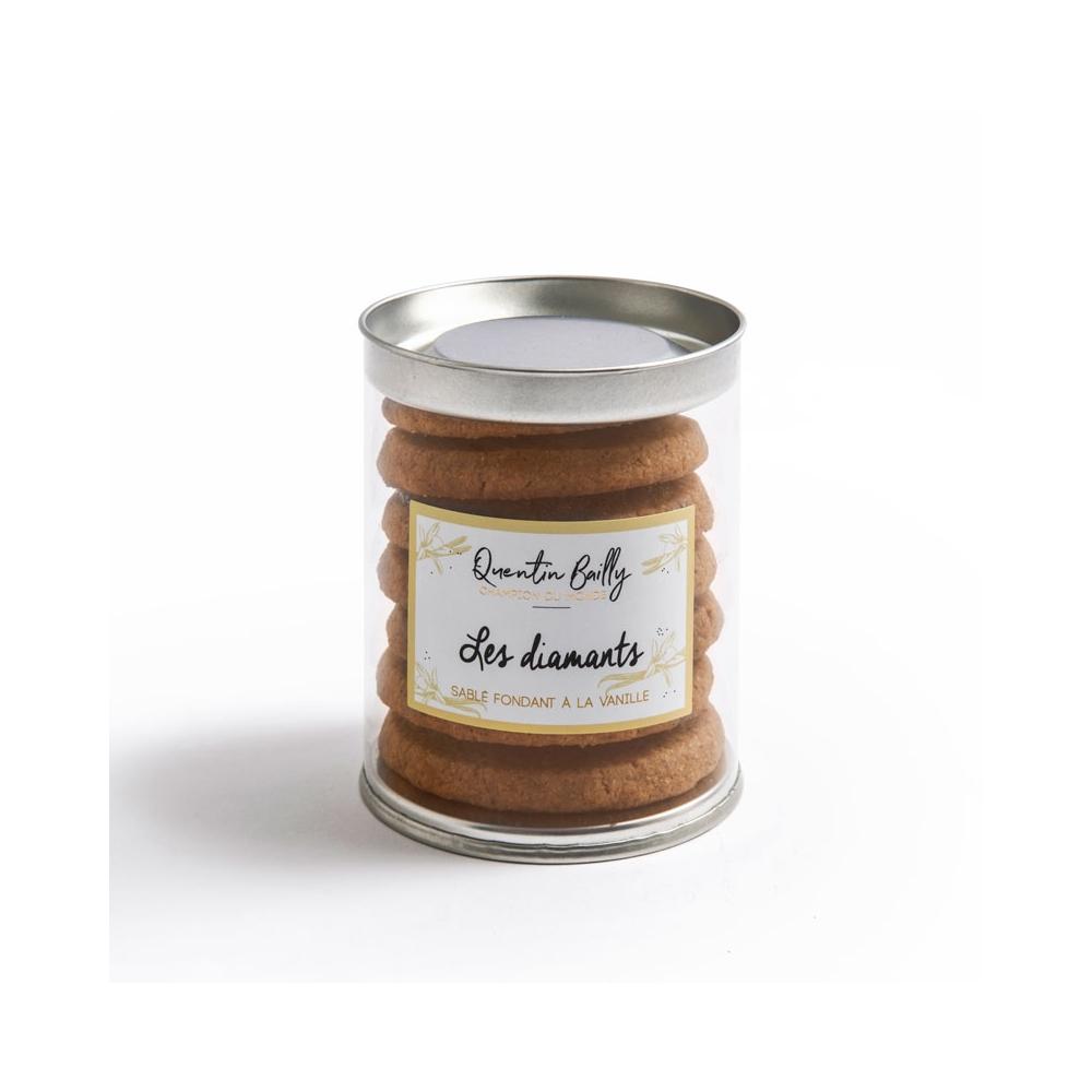Boite de sablés diamant à la vanille