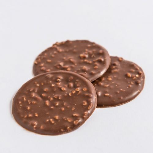 Tuiles aux amandes chocolat au lait