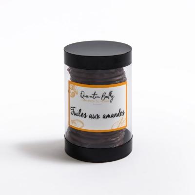Tuiles aux amandes chocolat noir
