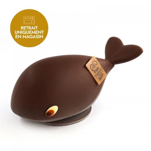 Notre baleine de Pâques version chocolat noir