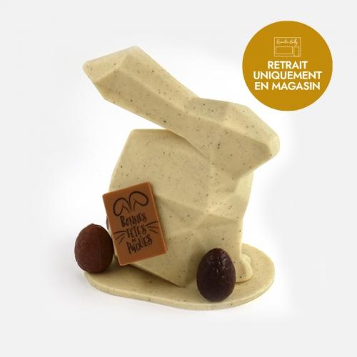 Notre lapin origami de Pâques à la vanille et au chocolat blanc