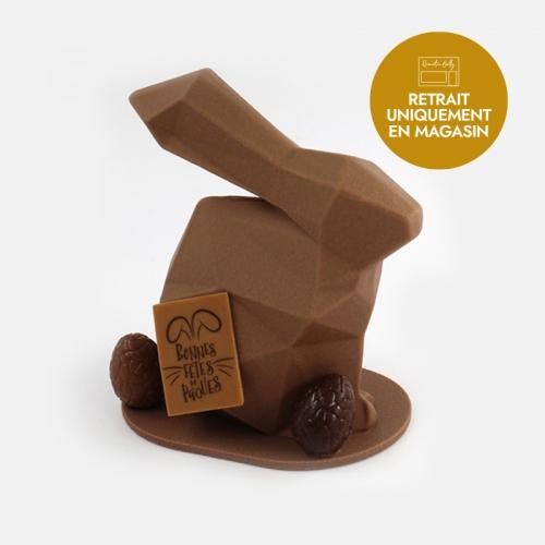 Notre lapin origami de Pâques au chocolat au lait