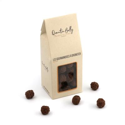 Billes croustillantes enrobées de chocolat noir