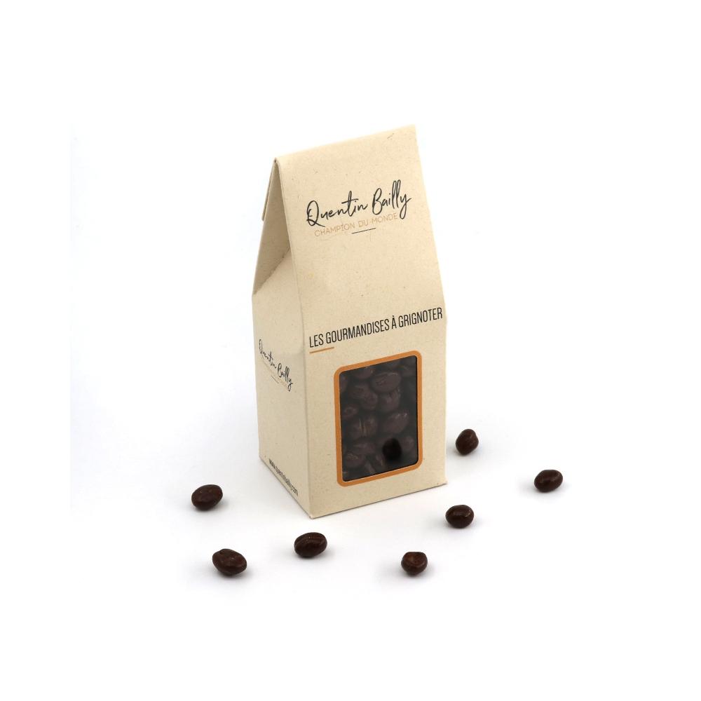 Grains de café enrobés de chocolat noir