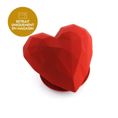 Coeur origami garni praliné amande caramel vanille