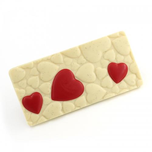 Tablette coeur chocolat blanc caviar de vanille