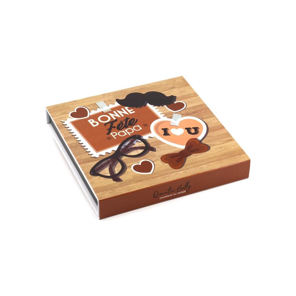 Coffret de 9 bonbons de chocolat pour la fête des pères
